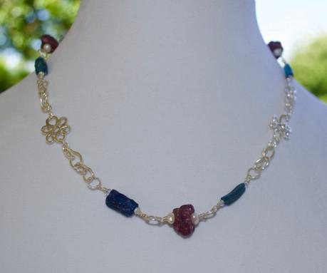 Raw Ruby & Ancient Roman Glass