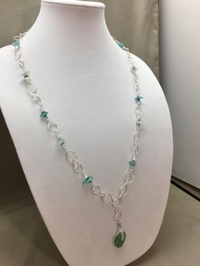 Long Roman Glass Necklace