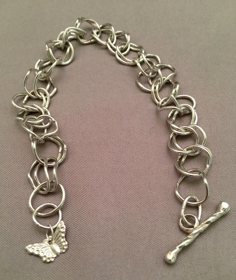 Double Curb-Linked Bracelet