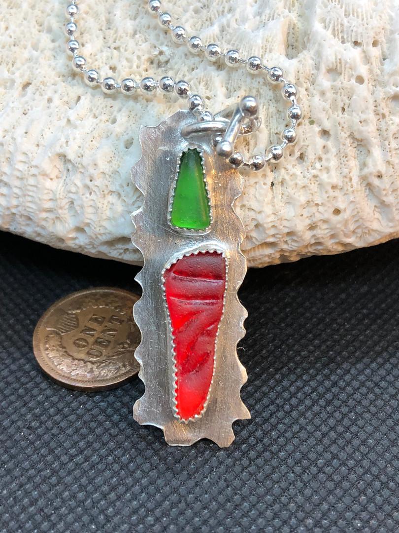 Sea Glass Chili Pepper