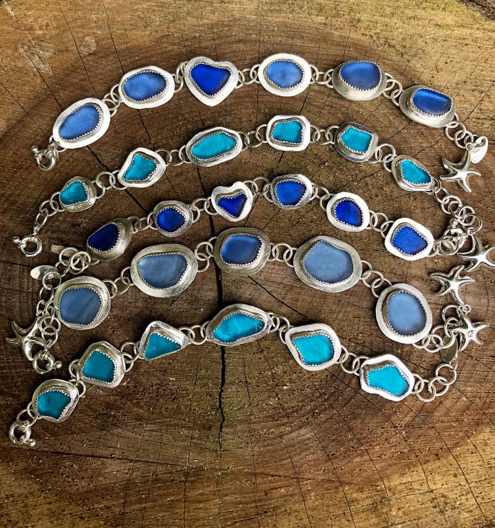 Carribean Sea Glass Bracelets