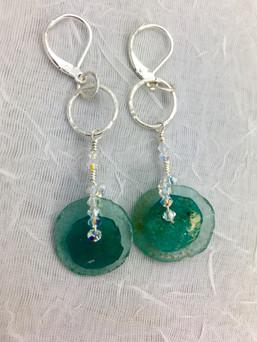 Roman Glass Discs Earrings