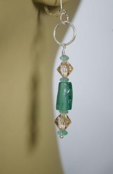 Tubular Roman Bead Earrings