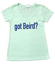 got beird women's vneck tshirt