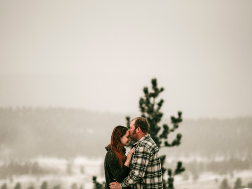 A Snowy Rocky Mountain Engagement Session 11-24-2018 / Brandon + Katie