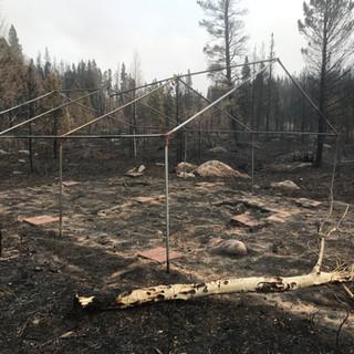 Remnants of Tent Platform at Beaver Meadows
