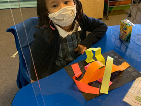 Students Show Off Their Paper Sculptures