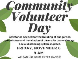 Volunteers Needed on Friday 11/6!