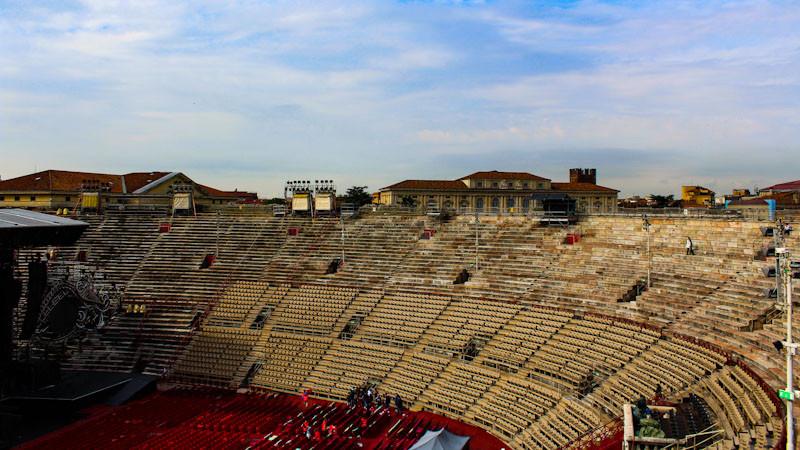 Arquibancada da Arena de Verona