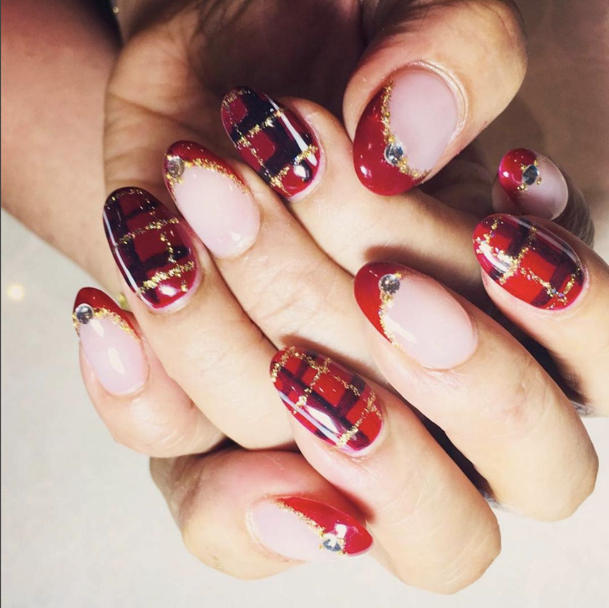 IBD Gel with Xmas nail art