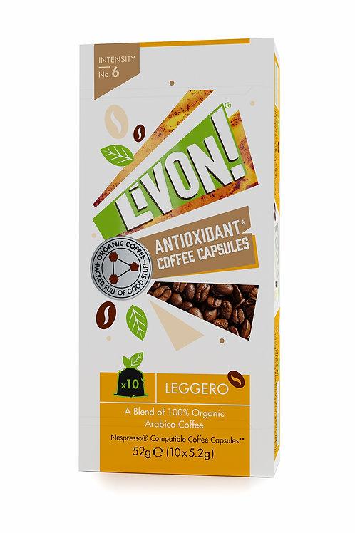 LivOn! Antioxidant Coffee Capsules - Leggero 10s