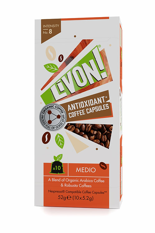 LivOn! Antioxidant Coffee Capsules - Medio 10s