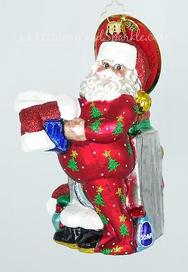 Christopher Radko Wash and Wear Santa Christmas Ornament 1019254