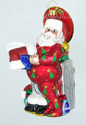 Christopher Radko Wash and Wear Santa Christmas Ornament 1019254