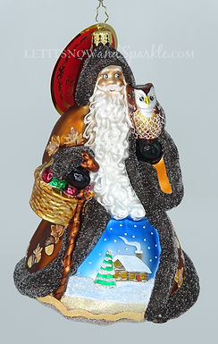 Christopher Radko Heart Of The Woodlands Santa 1020431 Christmas Ornament