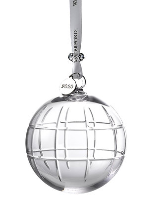 Waterford 2020 Cluin Ball 1055106 Crystal Christmas Ornament