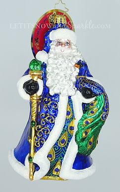 Christopher Radko Princely Peacock Santa 1019799 Unique Christmas Ornament