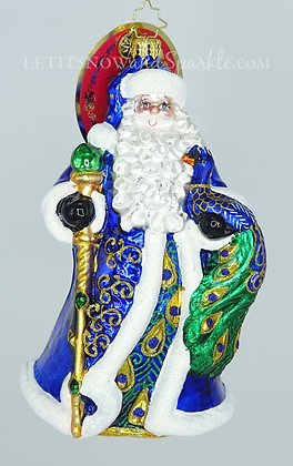 Christopher Radko Princely Peacock Santa 1019799 Unique Christmas Ornament