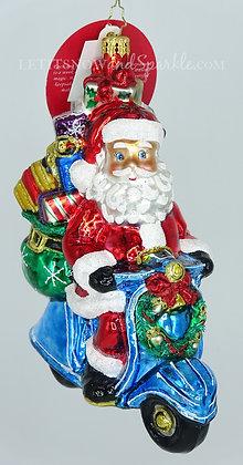 Christopher Radko Scootin' Around Town Santa 1020309 Christmas Ornament