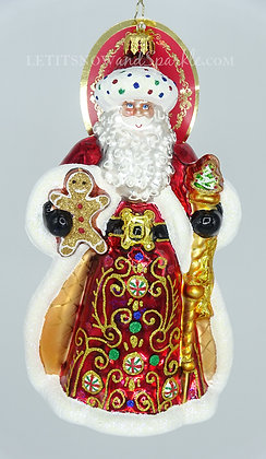 Christopher Radko King Of Sweets Santa 1020207 Unique Christmas Ornament