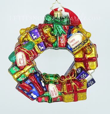 Christopher Radko Gifts All Around Wreath 1019133 Unique Christmas Ornament