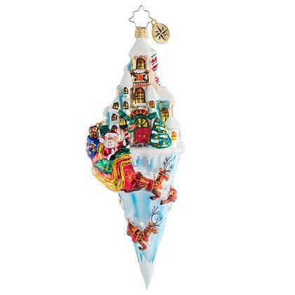 Christopher Radko Paradise On Ice Santa 1020622 Christmas Ornament