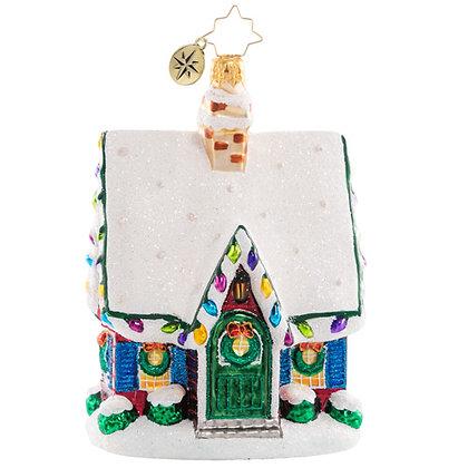 Christopher Radko Adorably Adorned Cottage House 1020736 Christmas Ornament