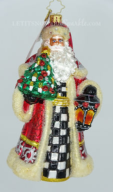 Christopher Radko Santa Lights The Way 1020140 Unique Christmas Ornament
