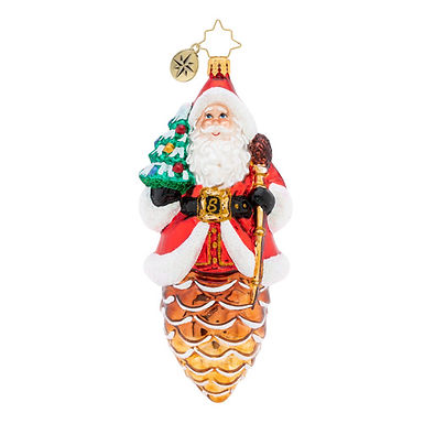 Christopher Radko Pine Cone Claus Santa 1019841