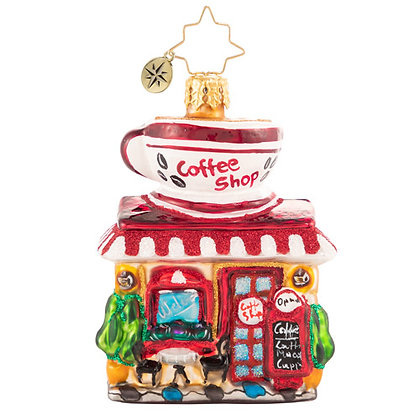 Christopher Radko Wake Up And Smell The Coffee Gem 1020638 Christmas Ornament