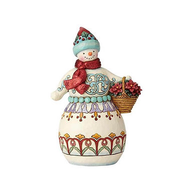 Jim Shore Heartwood Creek Wonderland Snowman with Basket 6001421 New 2018