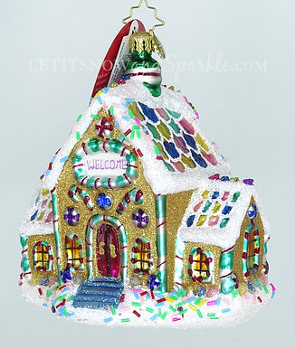 Christopher Radko Gingerbread Dream Home 1019649 Unique Christmas Ornament