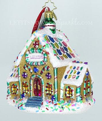 Christopher Radko Gingerbread Dream Home 1019649 Unique Christmas Ornament
