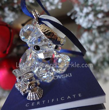 Swarovski Kris Bear with Train 718991 Christmas Ornament Retired