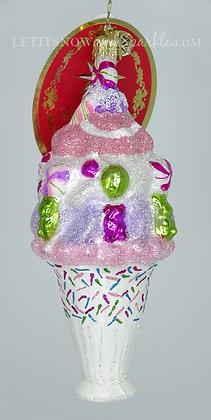 Christopher Radko I Scream, You Scream Sweets Treats 1020079 Christmas Ornament