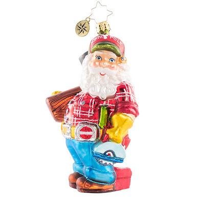 Christopher Radko Ready To Lend A Helping Hand Santa 1020704 Christmas Ornament