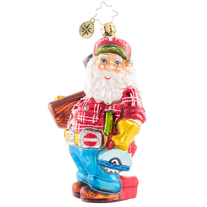 Christopher Radko Ready To Lend A Helping Hand Santa 1020704 Christmas Ornament