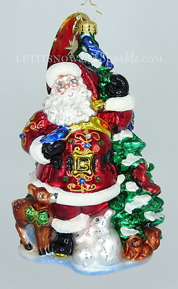 Christopher Radko Santa's Menagerie of Friends 1019913 Unique Christmas Ornament