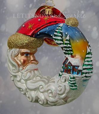 Christopher Radko Santa's Silent Night Wreath 1019910