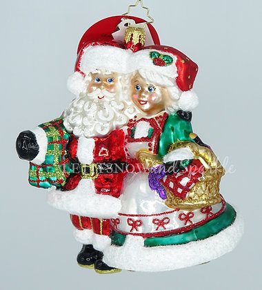 Christopher Radko A Picnic With St. Nick Santa 1020170 Christmas Ornament
