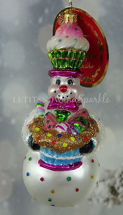 Christopher Radko Delicious Confectionery Snowman!