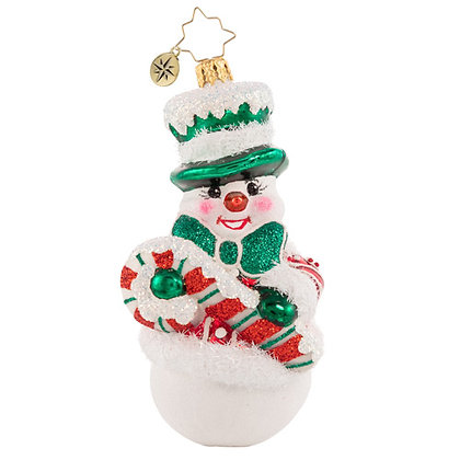 Christopher Radko Candy Cane Entertainer Snowman 1020757 Christmas Ornament