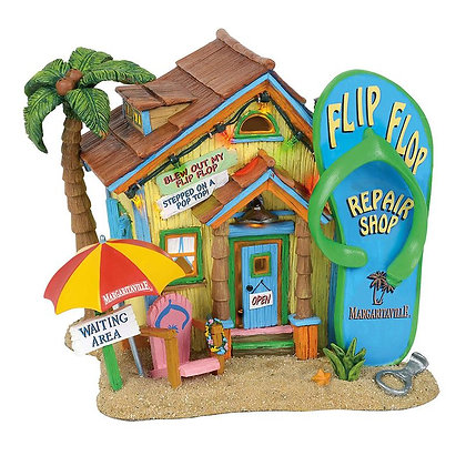 Margaritaville Village Flip Flop Repair Shop 6001757 Department 56 new 2018