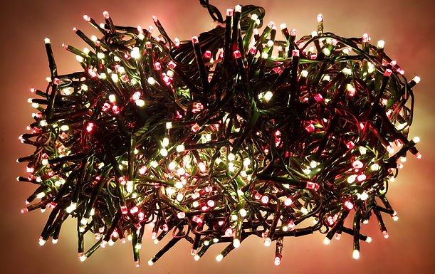 Raz Christmas LED Snake Lights 73.8 Foot Garland with 1000 RED and White Lights