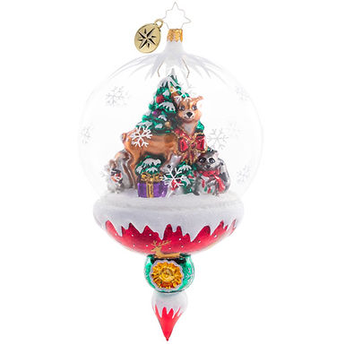 Christopher Radko Woodland Christmas Celebration Globe 1020751 Christmas Ornamen