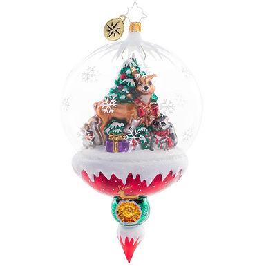 Christopher Radko Woodland Christmas Celebration Globe 1020751 Christmas Ornamen