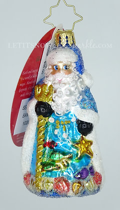 Christopher Radko Seas The Day Santa Gem 1020267 Unique Christmas Ornament