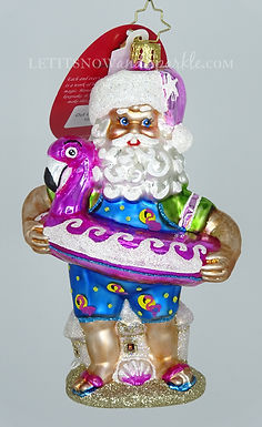 Christopher Radko Out Of Office Santa 1020168 Unique Christmas Ornament
