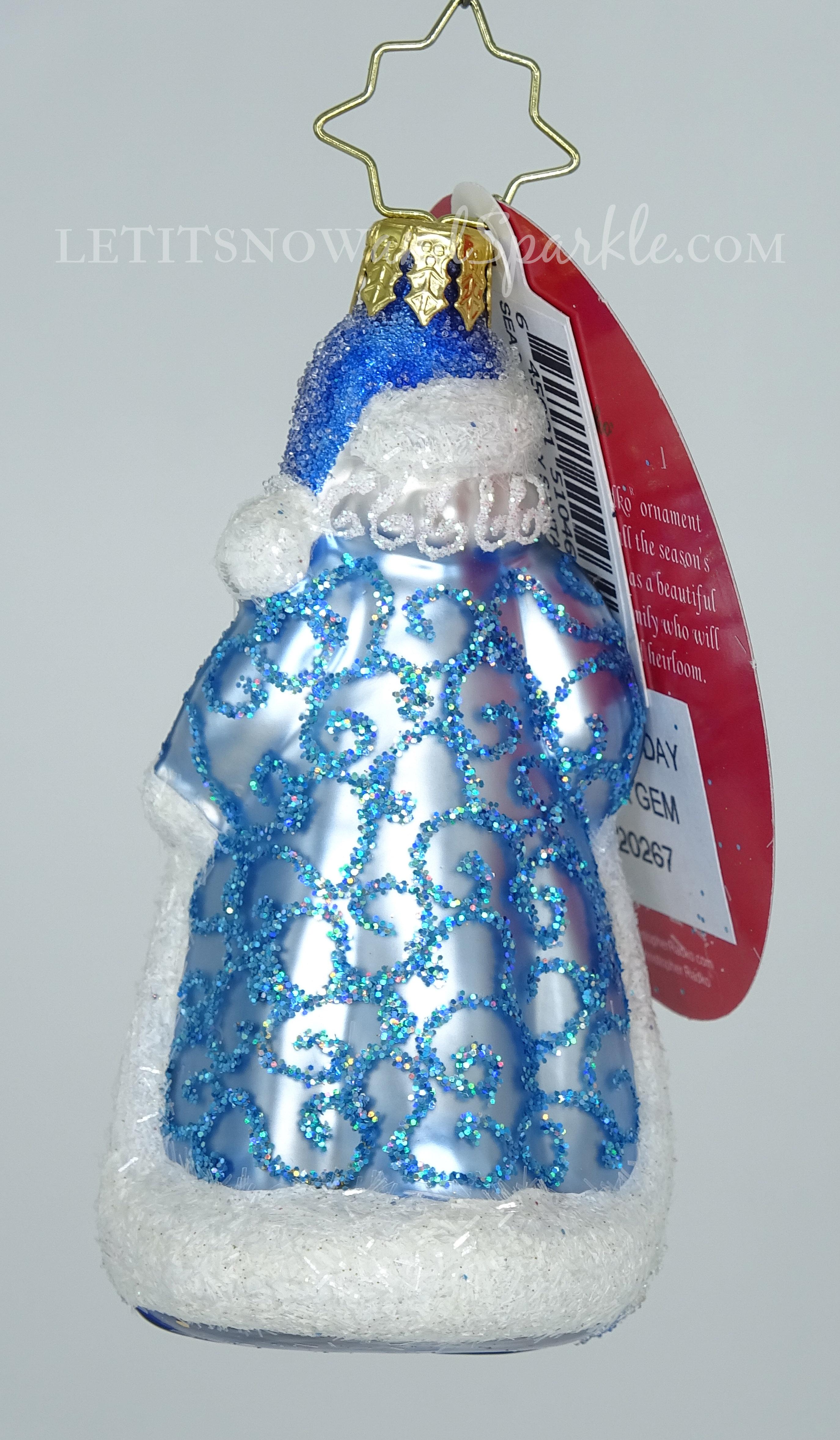 Christopher Radko *NEW* Little Gem Seas The Day Santa 1020267 Christmas Ornament
