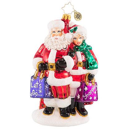 Christopher Radko Shop The Day Away Santa 1020824 Christmas Ornament